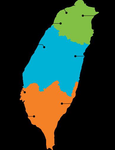 台湾エリア別マップ